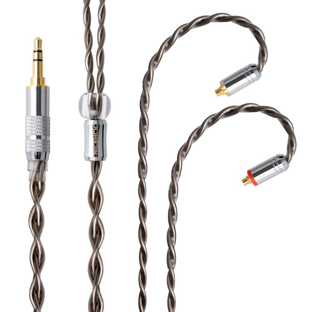 NICEHCK 7N Einzigen Kristall Kupfer OCC Silber Überzogene Kabel 3,5/2,5/4,4mm Stecker MMCX/2Pin Stecker für ZS10 AS10 BA10 CCA C16 M6/N3