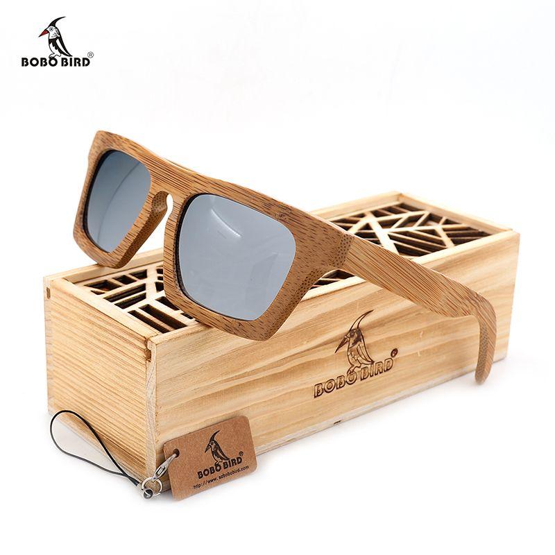Бобо птица женская обувь 2016 года древесины бамбука поляризационные Солнцезащитные очки для женщин красочные покрытия зеркальные защита UV ...