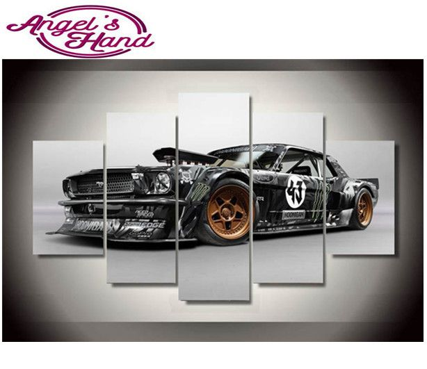 5D Diy diamond painting Modern Ford Mustang Rtr Car crystal diamond embroidery 3d diy crystal painting cross stitchsets