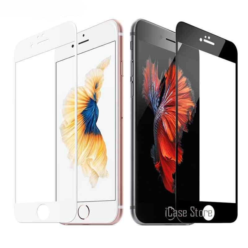 9H Full Screen Colorful Tempered Glass For iPhone 5 5S 5C SE 6 6S Plus 7 7Plus 4.7inch 5.5inch Screen Protector Film Case