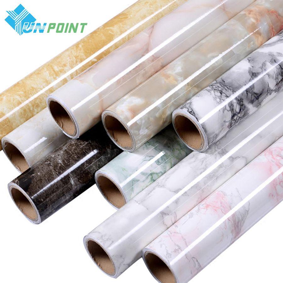 3 m/5 m marbre imperméable auto-adhésif papier peint moderne salon PVC Contact papier cuisine étagère tiroir Liner Stickers muraux