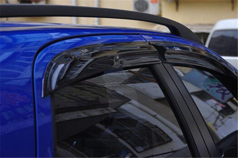 4pcs/Set Window Visor Vent Shade Sun Rain Deflector Guard Shield For Suzuki SX4 07 - 12 Hatch & Sedan