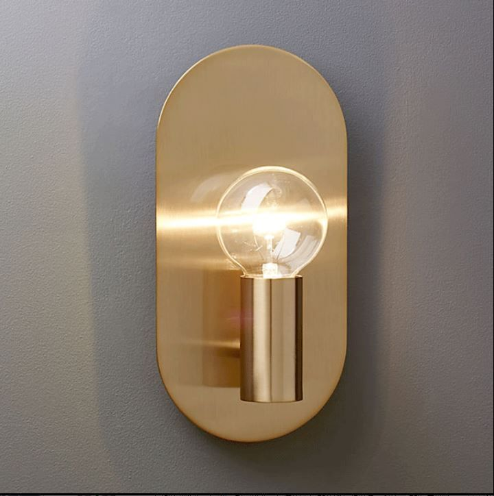 Nordic copper wall lamp living room TV background wall bedroom bedside corridor mirror front simple modern brass wall lamp