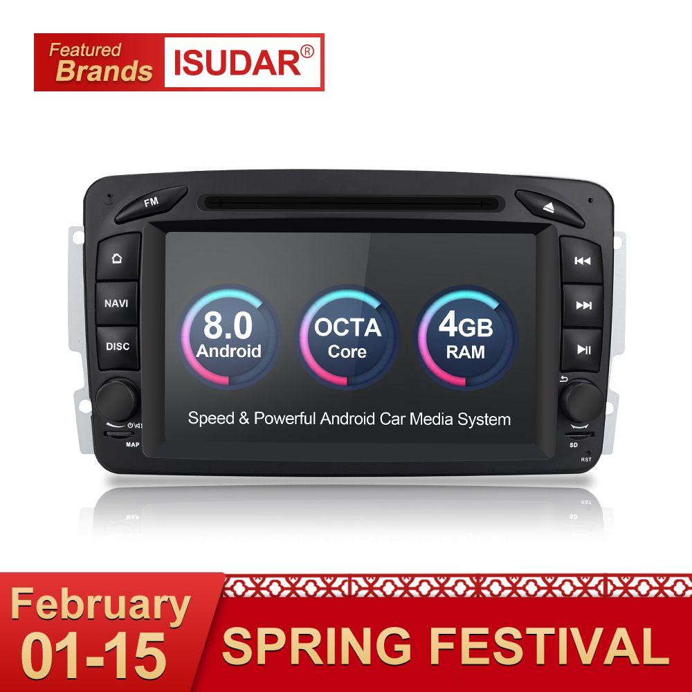 Isudar Auto Multimedia-Player 2 Din Auto Radio GPS Android 8.0 Für Mercedes/Benz/CLK/W209/Vito /W639/Viano/Vito Canbus Autoradio FM