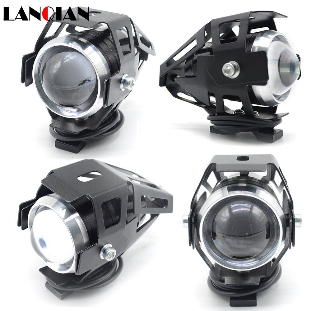 2PCS 125W Motorcycle headlights led spotlights 3000LM moto spotlight U5 LED Driving Fog Spot Head Light Decorative Lamp