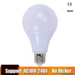 Lâmpadas LED Bulbo E27 lampara 100 V 110 V 220 V 240 V Lâmpada Poder Real 3 W 5 W 7 W 9 W 12 W 15 W Lampada LEVOU Bombillas