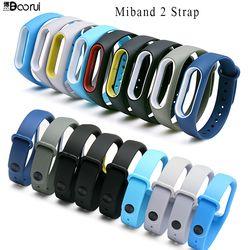 Boorui silicona mi banda 2 pulsera correa doble color mi band2 Correa wristband reemplazo Smart muñequera para xiaomi mi2 banda