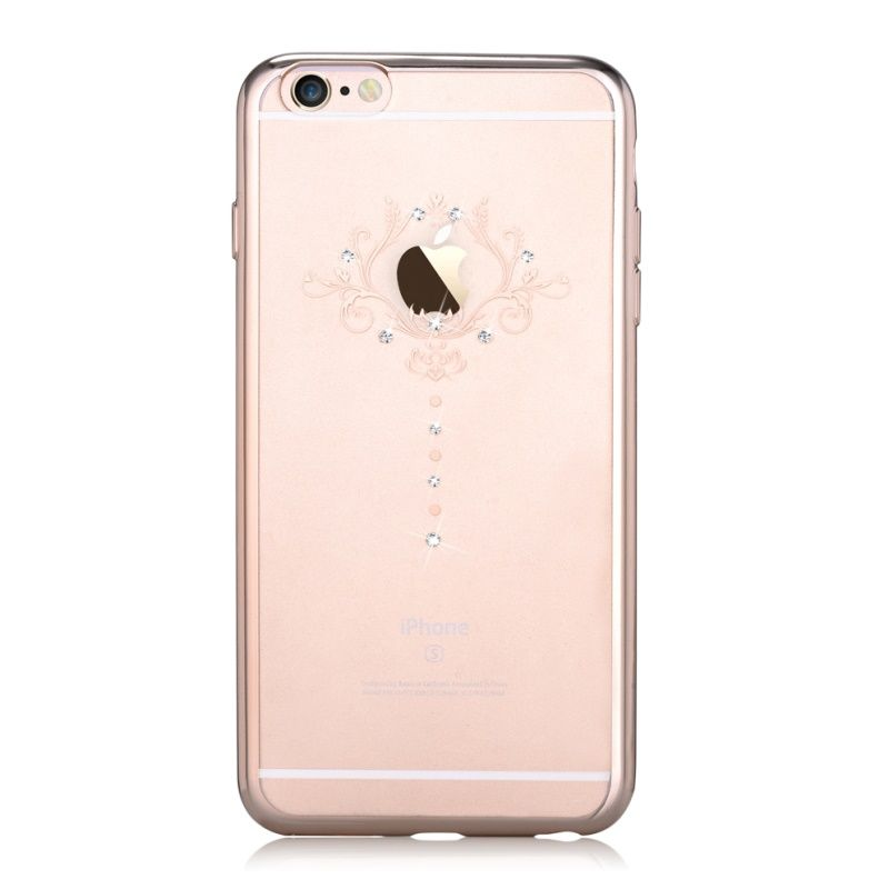 DEVIA for iPhone 6 Plus 6s Plus Case Cover Crystals from Swarovski Diamond Soft TPU Iris Floral Case for iPhone 6s Plus Cover