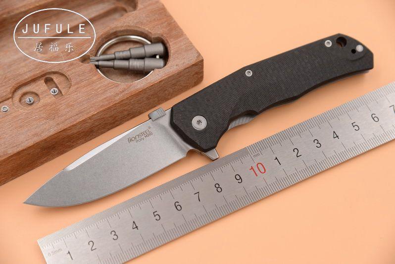 JUFULE Made Lionsteel TRE M390 kohlefaser Titan kugellager Tactical Flipper folding camp außen EDC werkzeug küchenmesser
