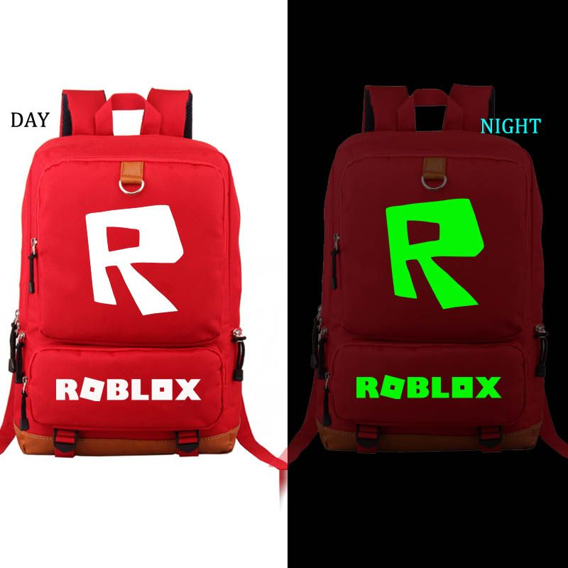 Roblox Backpack Noctilucous student school bag Notebook backpack Leisure Daily backpack