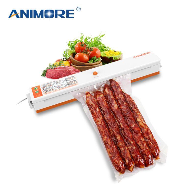 ANIMORE Ménage Vide Alimentaire Scellant 220 V/110 V Machine D'emballage Film Scellant Vide Packer Y Compris 10 Pcs Sacs VFS-02