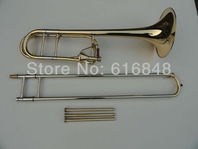 High level Trombone Silver And Gold Plated Tapered Bb Tone Trombone Edward In B Flat Drawn Tubes Trombone Musical Instruments