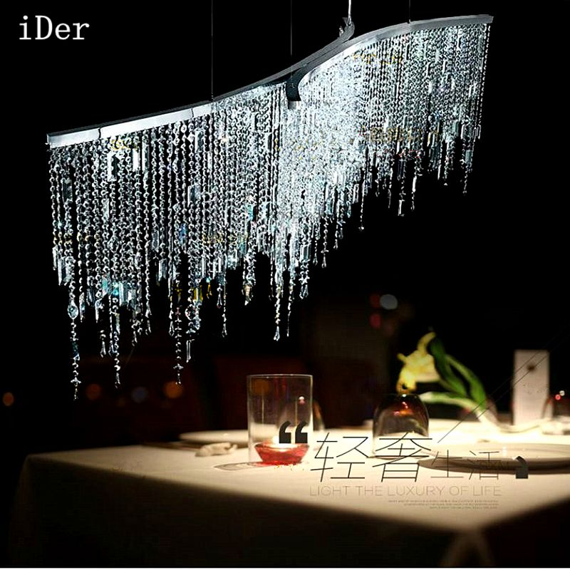 Led Italian luxury crystal Pendant Lights model room after the modern simple Nordic bedroom restaurant crystal lamp