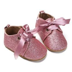 Baby Shoes Moccasins Shoes for Girls Toddlers Babies Soft Sole Lace Up Sequin Baby Girl Shoes Spring Footwear bebek ayakkabi