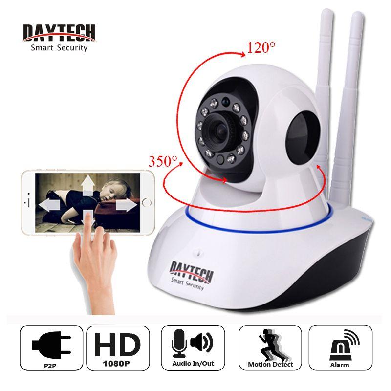 DAYTECH 2MP IP Camera 1080P Wi-Fi Wireless Surveillance Camera WiFi P2P Security CCTV Network Baby Monitor Two Way <font><b>Intercom</b></font> IR