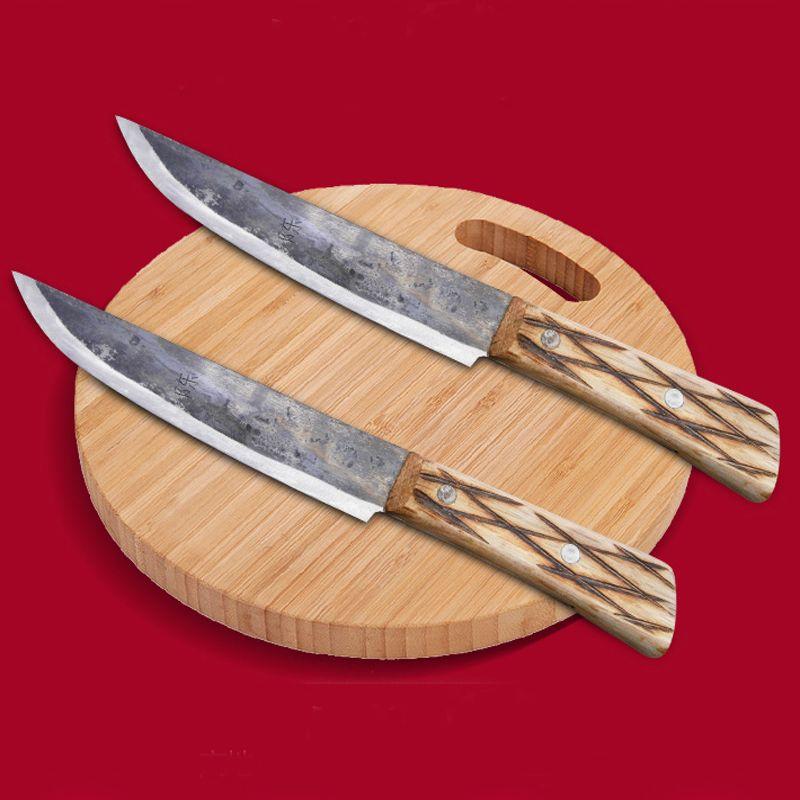 LD Freies Verschiffen Metall Geschmiedet Handgemachte Clip Stahl Chef Ausbeinmesser Split Metzger Fleisch Messer Küche Professionelle Schneidmesser