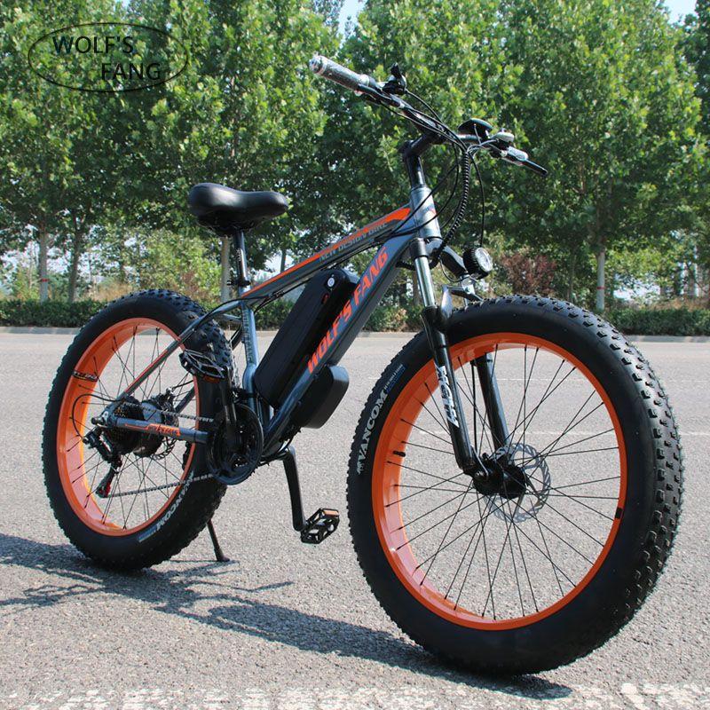 Wolf fang Dual Disc Bremse Elektrische Fahrrad Stadt elektrische fahrrad Lithium-Batterie Fahrrad 48V500W 13AH ebike Damen kostenloser lieferung