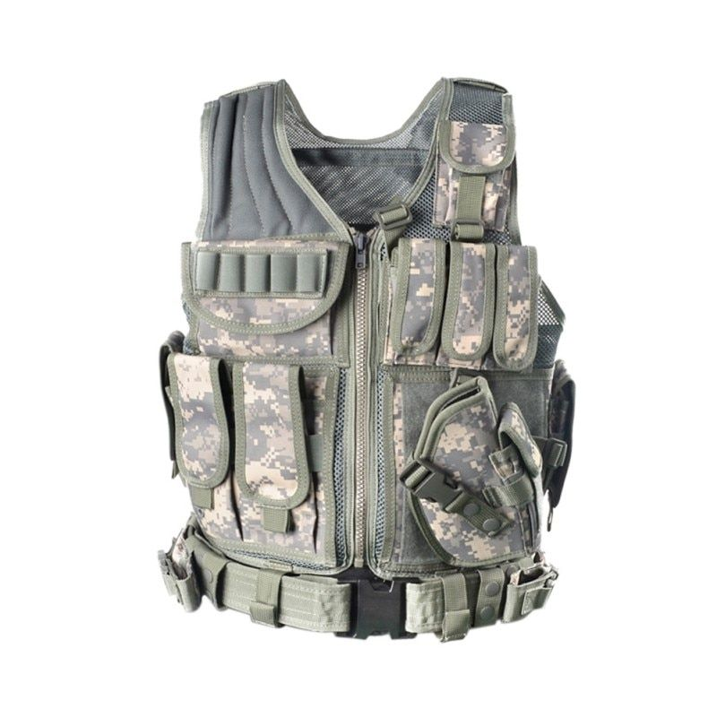 2017 Outdoor Police Tactical Vest Camouflage Vest Military Body Armor Sports Wear Hunting Army SWAT Molle Vests New Arrival