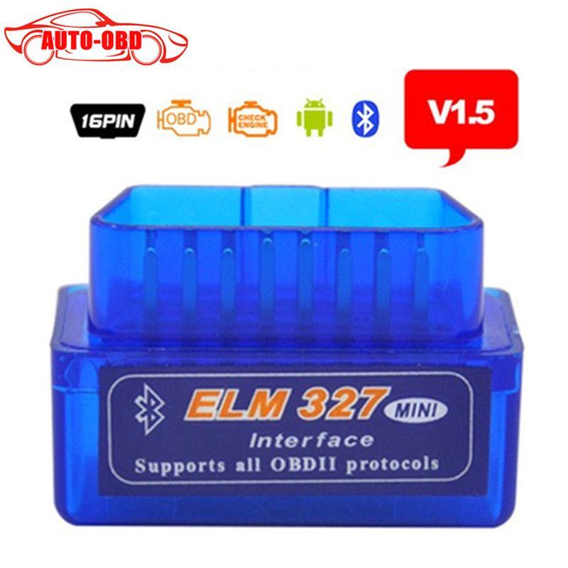 Best Качество Супер Мини ELM327 Bluetooth V1.5 OBD2 авто код читателя МИНИ 327 автомобиля диагностический интерфейс ELM 327 Bluetooth