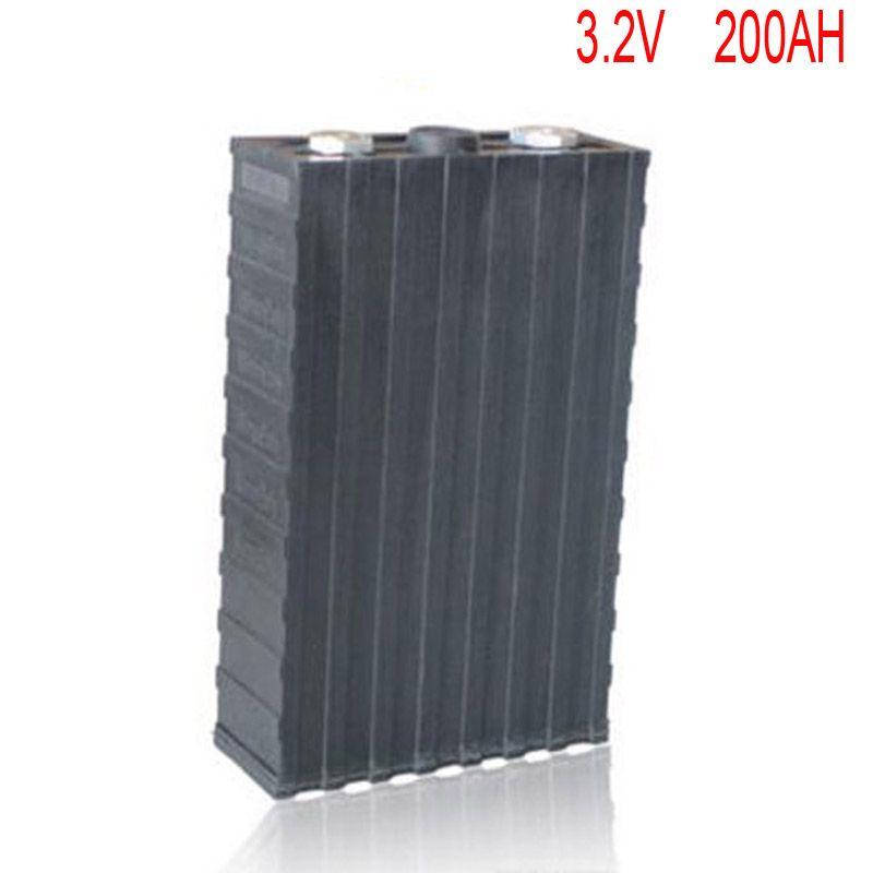 4 teile/los Wiederaufladbare 3,2 V 200Ah lithium-ionen LiFePO4 Batterie modell Batterien für EV/UPS/BMS/Power lagerung/solarstromanlage