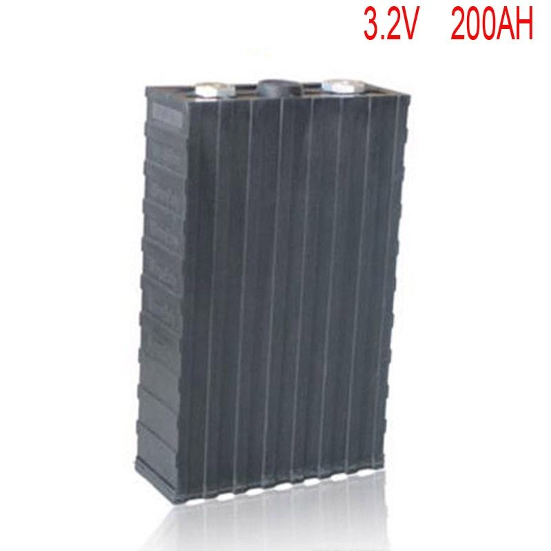 4pcs/lot Rechargeable 3.2V 200Ah Lithium ion LiFePO4 Battery model Batteries for EV/UPS/BMS/Power storage/solar power system