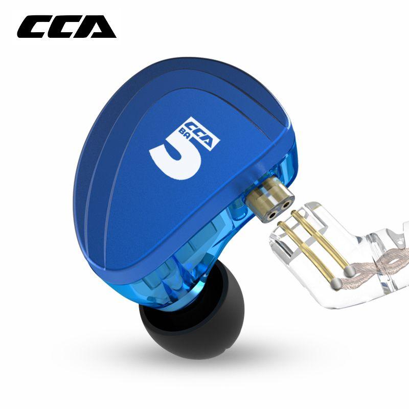 CCA A10 5BA Stick Einheiten In Ohr Kopfhörer 5 Ausgewogene Anker HIFI Überwachung Kopfhörer Headset Mit Abnehmbare Lösen 2PIN Kabel