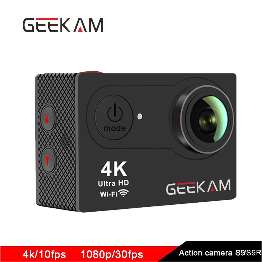 D'origine GEEKAM S9 caméra d'action 4 k sport 1080 p WiFi caméra caméras deportivas imperméable à l'eau En Plein Air Mini hd dv extrême caméras