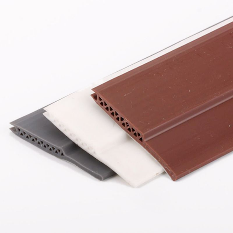 Acoustic Door Bottom Sealing Silicone Draft Stopper Adhesive Threshold Seals 45 x 910mm 1200mm Brown Gray White
