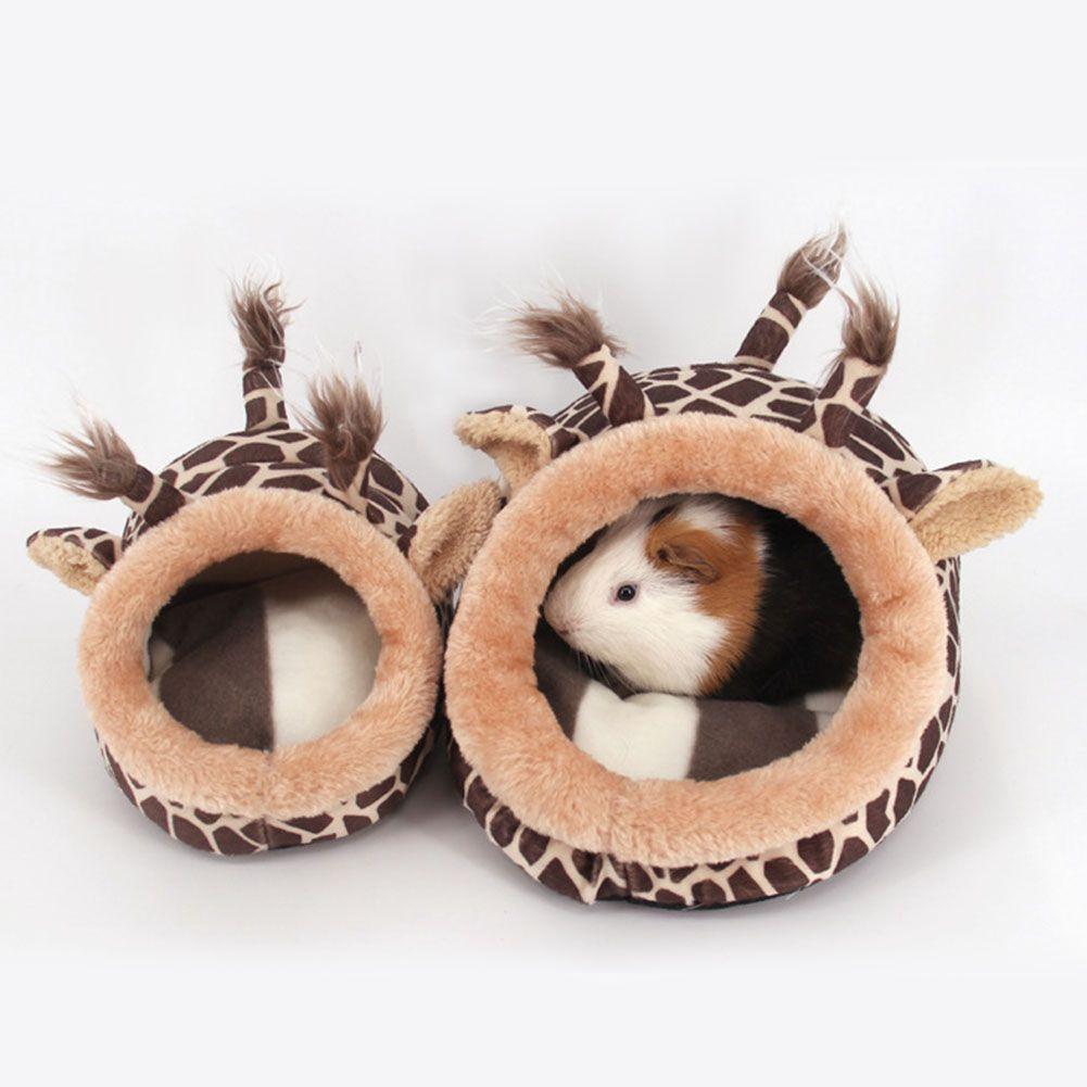 Guinée Porc Chinchillas Écureuil Lit Nid Hamster Maison Cage Accessoires Mini Animaux Hamster Lit Rose Léopard