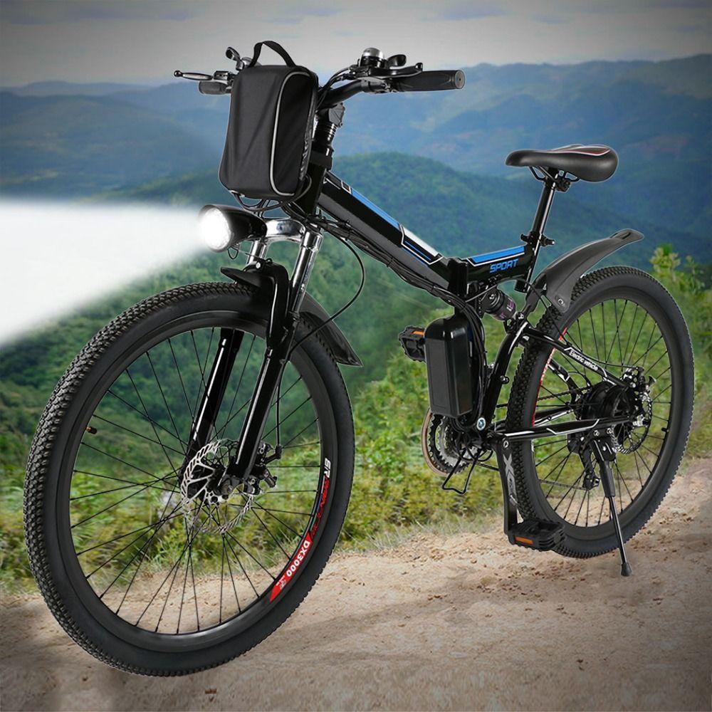 ANCHEER Neue Mountainbike 26 zoll 36 V Faltbare Elektrische Power Mountainbike mit Lithium-ionen-akku ebike EU stecker