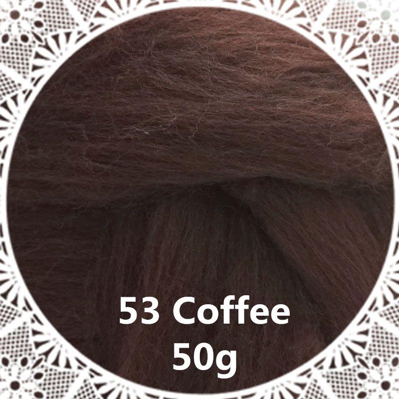Livraison gratuite main Feutre De Laine pour le feutrage 50g Café Parfait en Feutre Aiguilleté 41 #