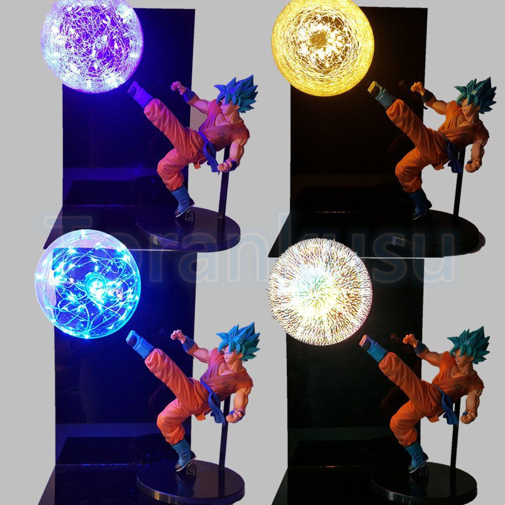Dragon Ball Z Action Figure God Goku Super Saiyan Led Lighting Display Toy Anime Dragon ball Son Goku Collectible Model DIY166