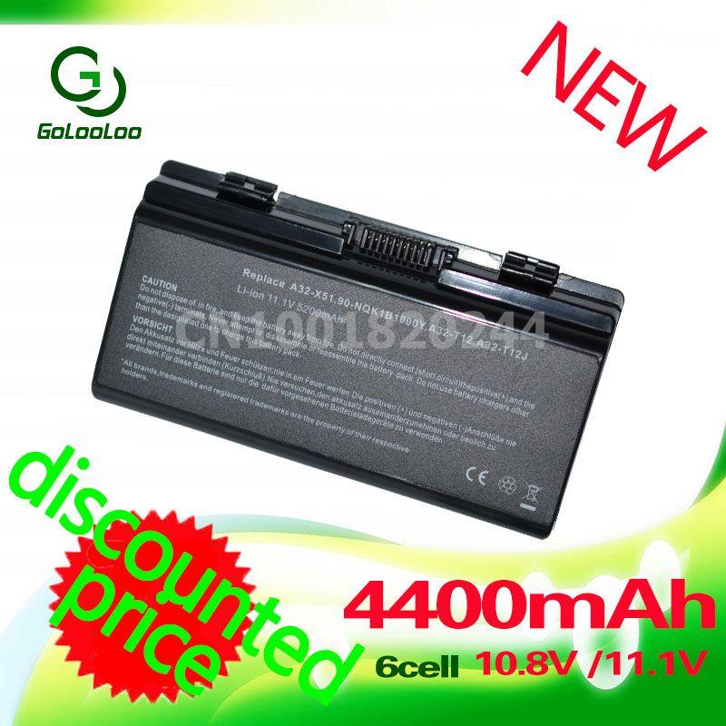 Golooloo batterie d'ordinateur portable pour Asus X58 X51L X58L T12 T12C T12Jg T12Er T12Fg T12Ug X51H X51R X51RL X58C A31-T12 A32-T12 A32-X51