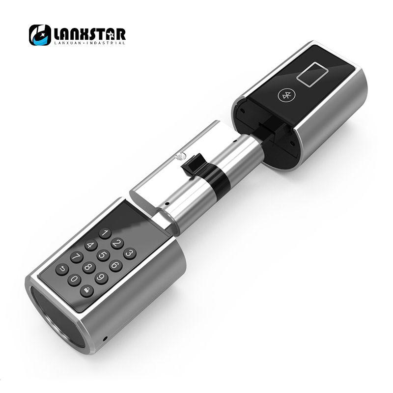 Lanxstar пароль Smart Lock цилиндр домой Keyless электронный замок core с Bluetooth мобильное приложение Многофункциональный Интеллектуальное