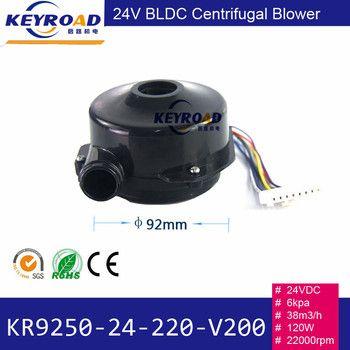 Mini 24 V 1000LPM 6kPa 22000 rpm Puissant Ventilateur Haute pression et À Faible Bruit 3-phase Brushless DC Centrifuge Électrique Air ventilateur