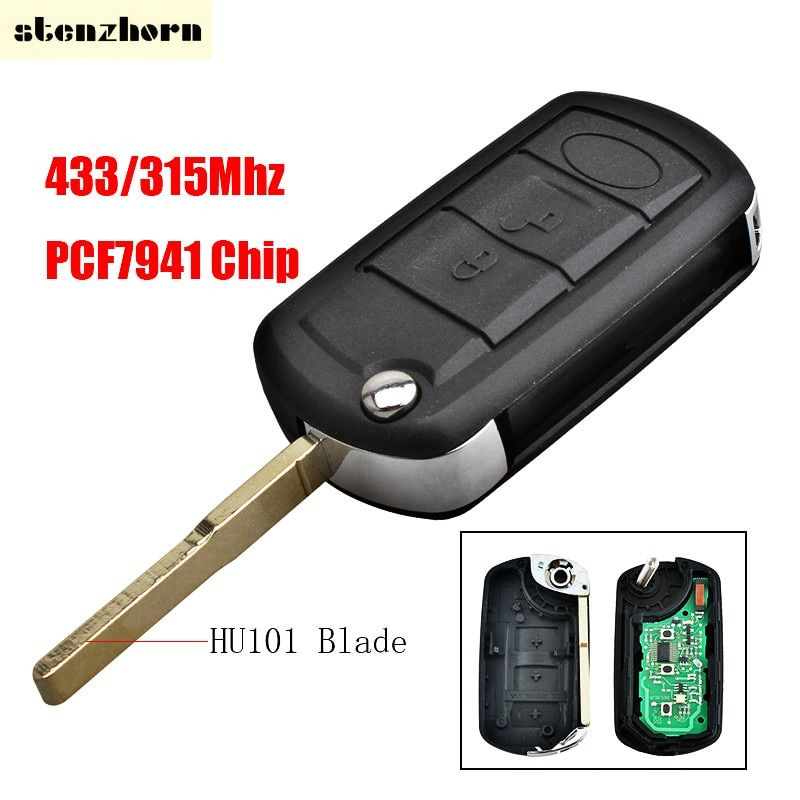 Stenzhorn Remote Car Key 433/315MHz PCF7941 Chip for Land Rover Discovery 3 Range Rover LR3 3 Buttons Original Car Key