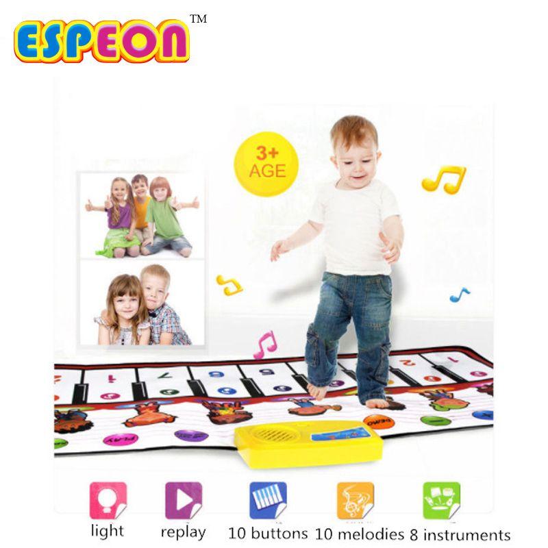 Espeon 100x40 cm Baby Play Mats Alfombra Bebé Juguetes de Piano Grande Juguetes para niños de Bebé Alfombra Alfombra Alfombra Mat Niños En Desarrollo Canta juguetes