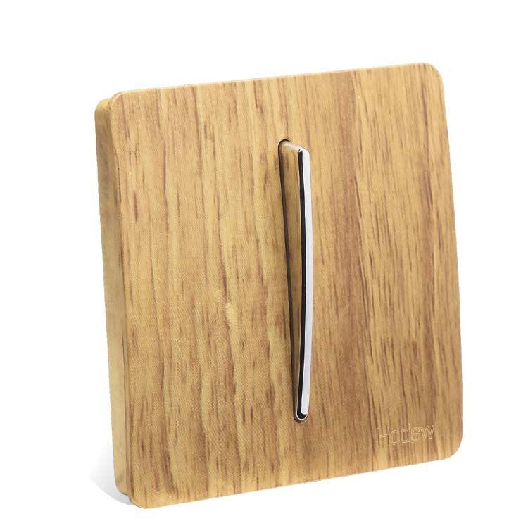 En bois Couleur Interrupteur Mural, 1 Gang 2 Voies, Art Mode Interrupteur D'éclairage AC 110 ~ 250 v