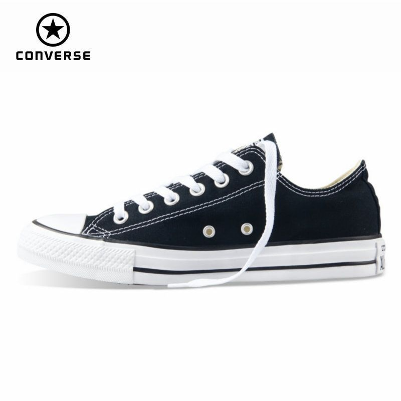 Original new Converse all star canvas shoes men's sneakers for men low classic <font><b>Skateboarding</b></font> Shoes black color free shipping