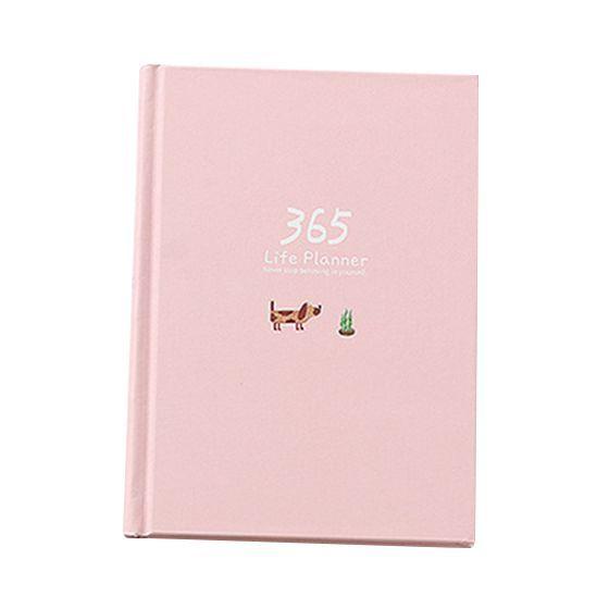 Plan creativo Notebook 365 Días Interno Página Mensual Diario Planificador diario Notebook, rosa