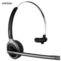 2017 New Mpow Bluetooth 4.1 Headset Wireless Over-the-Head Noise Canceling Headphones for Truck Car Drivers, Call Center, Office