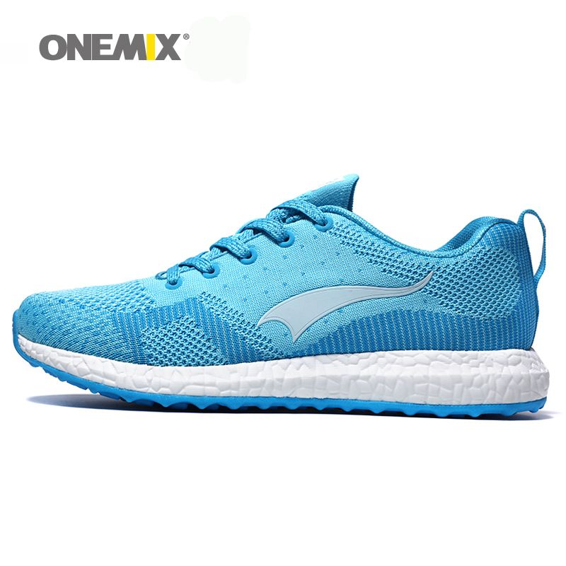 New arrival 2017 Onemix men's running shoes breathable weaving spring sport shoes men's walking shoes free shipping