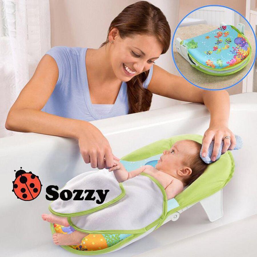 SOZZY pliable lit de bain de bébé de bain baignoire chaise de bain serviettes de bain Sûr et confortable pour bébé YYT194