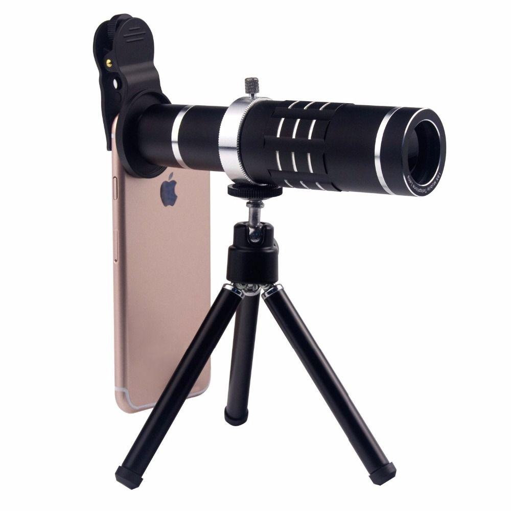 Universal 18X Zoom Mobile Phone Optical Camera Telephoto Lens Telescope With Mini Mount Tripod For iPhone Samsung Smartphone