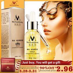 Skin Care 24K Gold Essence Day Cream Anti Wrinkle Face Care Anti Aging Collagen Whitening Moisturizing Hyaluronic Acid Ance
