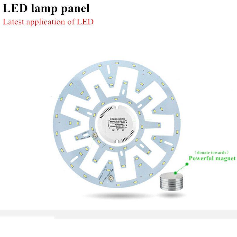 10 W 12 W 15 W 18 W 20 W 24 W plafonnier LED anneau panneau cercle lumières 180 V-265 V AC SMD 5630 panneau de plafond le panneau de lampe circulaire