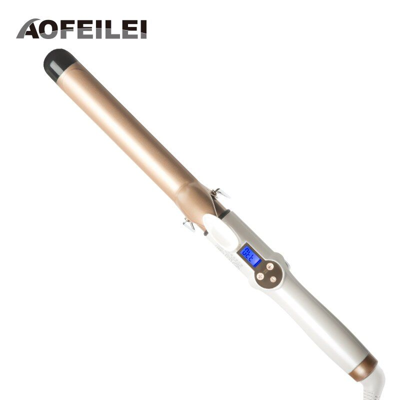 2017 New Real Electric Professional Ceramic Hair Curler Lcd <font><b>Curling</b></font> Iron Roller Curls Wand Waver Fashion Styling Tools