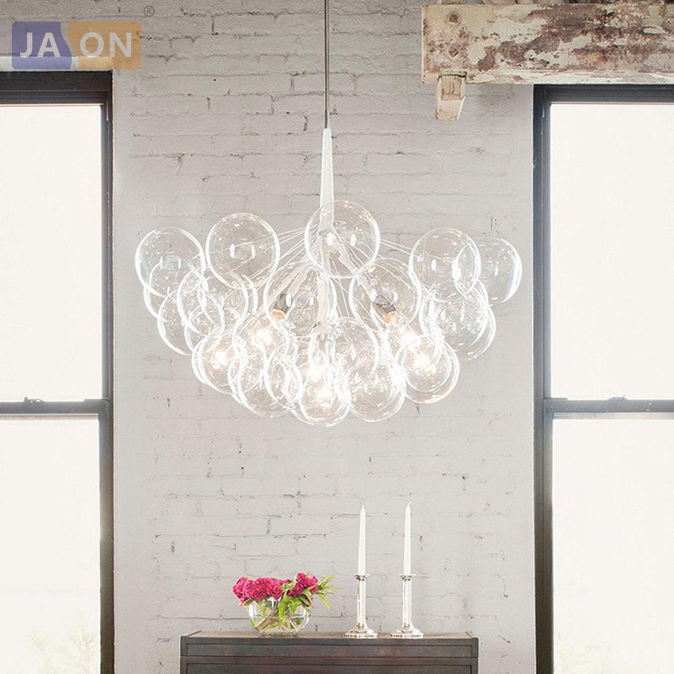 LED Postmodern Iron Glass Bubbles Designer LED Lamp LED Light.Pendant Lights.Pendant Lamp.Pendant light For Dinning Room