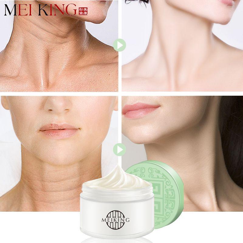 MEIKING acide hyaluronique crème hydratante pour le cou Anti-rides élimine les ridules masque pour le cou blanchissant raffermissant masques pour le cou soins 80g