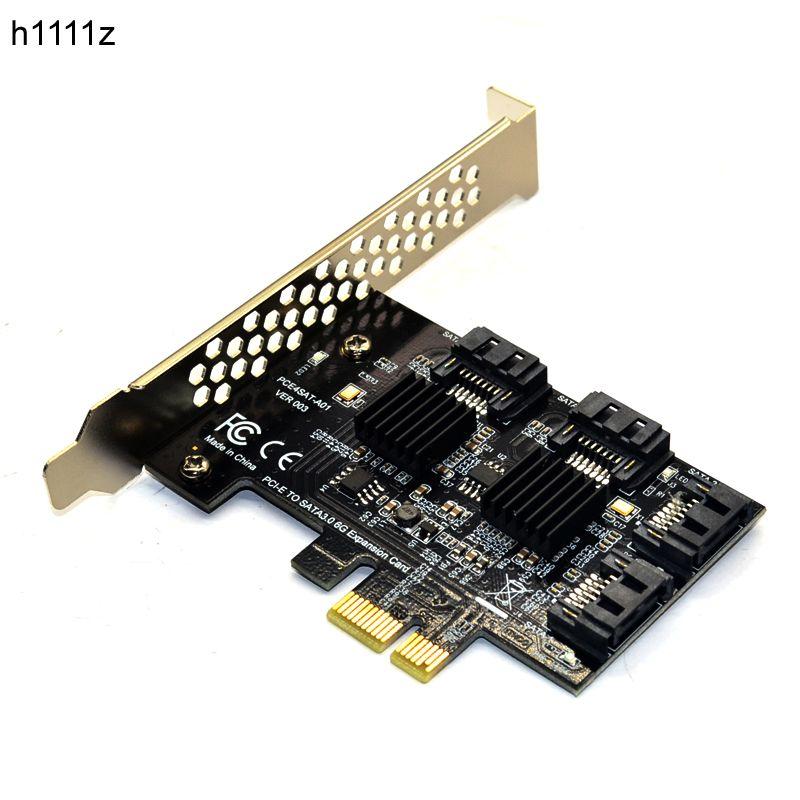 4 Ports SATA 6g PCI Express Carte Contrôleur PCI-e à SATA III 3.0 convertisseur avec Dissipateur de Chaleur Adaptateur D'extension conseil pour PC IPI